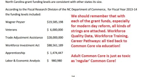 From the NC Chamber of Commerce document joining workforce and education reform.