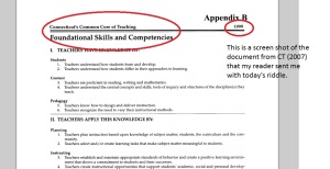 As we know, teacher preparation must  compliment  the Standards set forth.