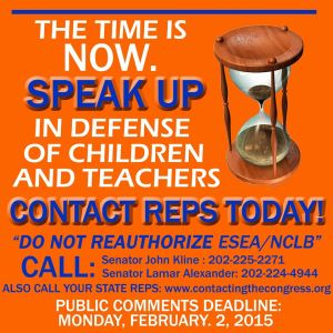 Do you want to keep Common Core? Allowing the re-authorization of Sen. Alexander's NCLB/ESEA will do just that AND more!