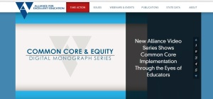 A current Alliance for Excellent Education webpage.