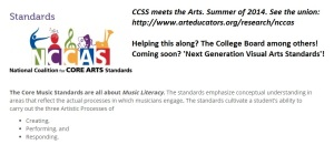 IF CCSS ruins the arts as it has more traditional subjects, we'll all be signing the blues.