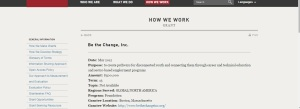 Yes, Gates Foundation has given money to Be the Change.