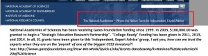 If you can't already guess, Gates Foundation has been footing several NAP activities since 1999.