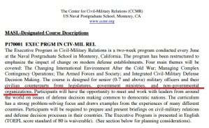 To see the Civilian-Military Courses: http://calhoun.nps.edu/bitstream/handle/10945/41974/CCMR_Courses_2002-01-01.pdf?sequence=1