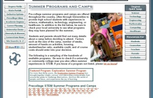 To learn more:  http://www.careercornerstone.org/pcsumcamps.htm
