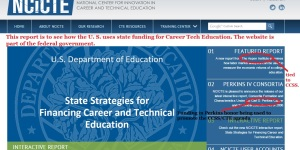 You, too, can visit the federal funded CTE center: http://ctecenter.ed.gov/
