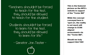 The website: http://www.networkforpubliceducation.org/2015/05/ask-your-senator-to-support-the-tester-amendment/