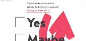 This website gives us only two choices 'yes' and 'maybe'.