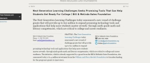 http://www.gatesfoundation.org/Media-Center/Press-Releases/2011/01/Next-Generation-Learning-Challenges-Seeks-Promising-Tools-That-Can-Help-Students-Get-Ready-For-College