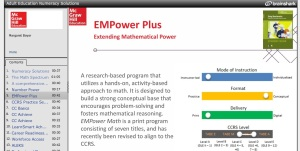 On e of the 'new math' programs for adults..complete with lots of hands on learning activities.
