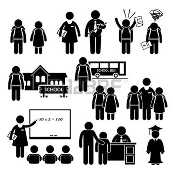 26999416-student-teacher-headmaster-school-children-stick-figure-pictogram-icon-clipart